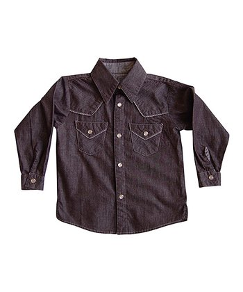 Black Denim Buckaroo Button-Up - Infant, Toddler & Boys