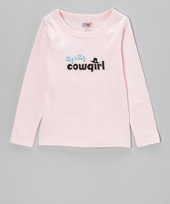 Pink 'Itty Bitty Cowgirl' Tee - Infant, Toddler & Girls