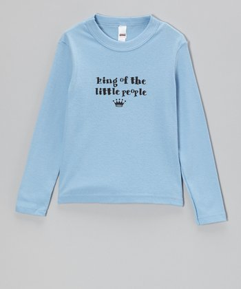 Blue 'King of the Little People' Tee - Infant, Toddler & Boys