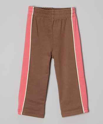 Chocolate & Coral Organic Terry Pants - Infant & Toddler
