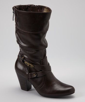 Dark Brown Graceful Boot
