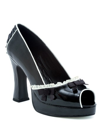 Black Dee Peep-Toe Pump