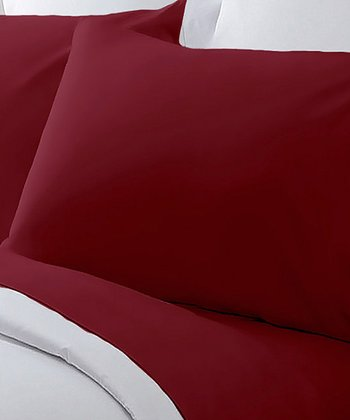 Burgundy Hotel Grand 800-Thread Count Sheet Set