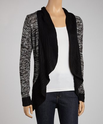 Black & White Color Block Open Cardigan