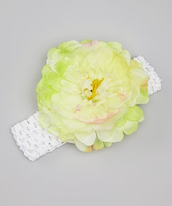 Lime Flower Headband