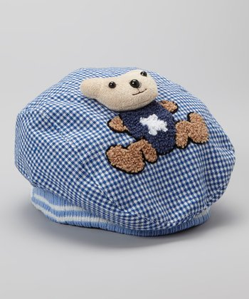Blue Plush Teddy Bear Hat