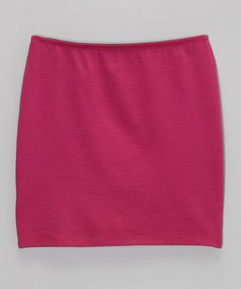 Fuchsia Pencil Skirt - Girls