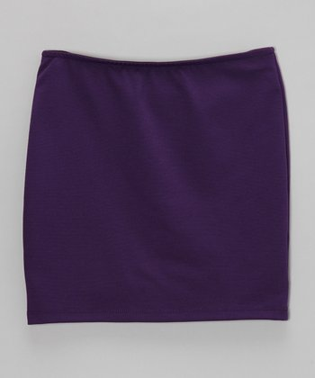 Grape Pencil Skirt - Girls