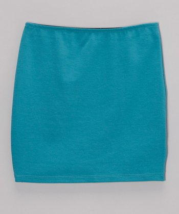 Turquoise Pencil Skirt - Girls