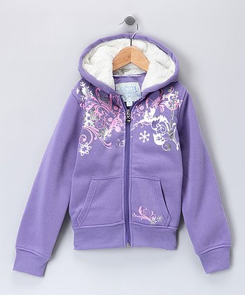 Purple Wings Zip-Up Hoodie