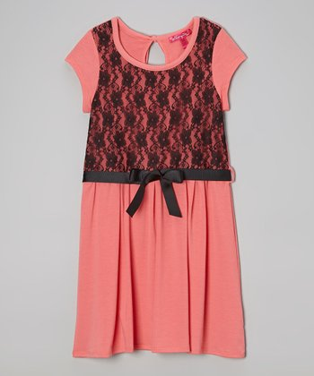 Cinnamon Sugar Lace Dress - Girls