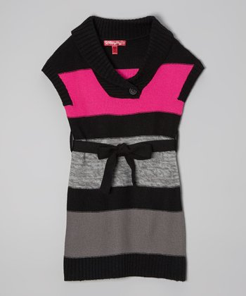 Lollipop Pink Stripe Sweater Dress - Infant