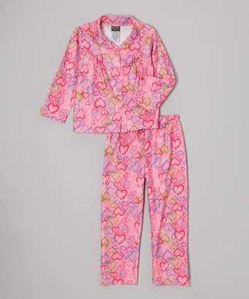 Light Pink Hearts Pajama Set
