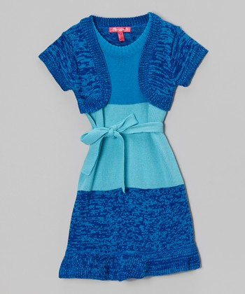 Bluebell Color Block Layered Dress - Girls