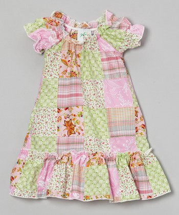 Pink Patchwork Peasant Dress - Infant, Toddler & Girls