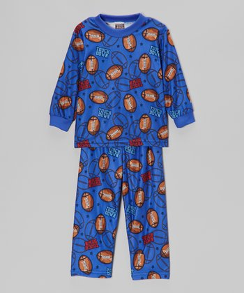 Navy Blue 'Touchdown' Pajama Set