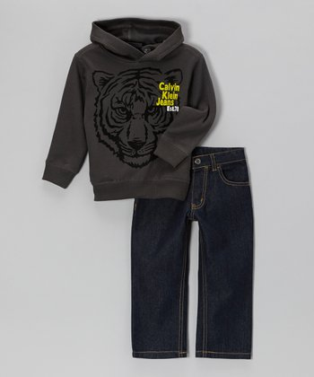 Brown Tiger Hoodie & Jeans - Infant & Toddler