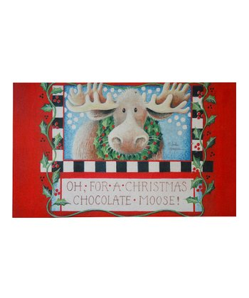 Christmas Moose Doormat