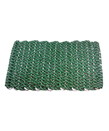 Green & Red Flat Rope Christmas Floor Mat