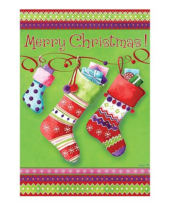 Holiday Stockings Christmas Garden Flag