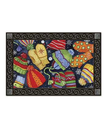Hats & Mittens Holiday Doormat