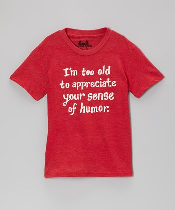Red 'I'm Too Old' Tee - Toddler & Boys