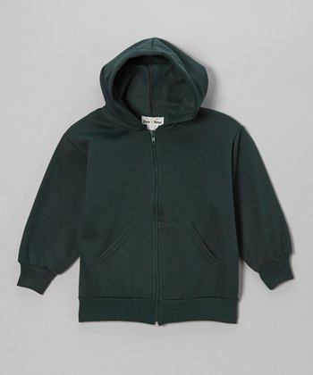 Green Zip-Up Hoodie - Kids