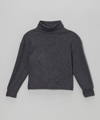 Gray Turtleneck - Toddler