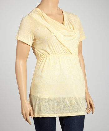 Yellow Drape Top - Plus
