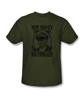 Military Green 'Moe Money' Tee - Adult