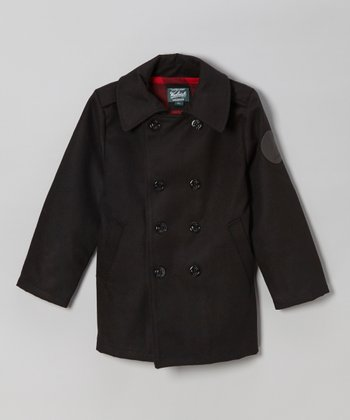 Black Peacoat - Infant, Toddler & Boys