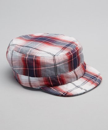 Fire Truck Plaid Newsboy Hat