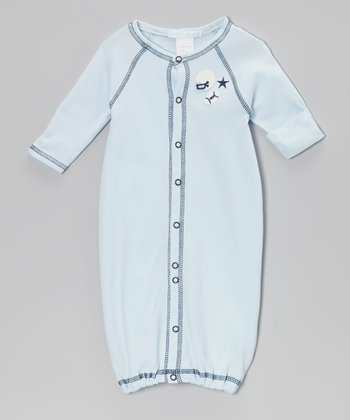 Blue Football Convertible Gown - Infant