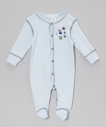 Blue Airplane Footie - Infant