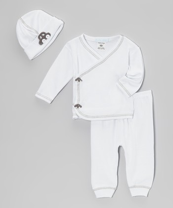 White Car Wrap Top Set - Infant