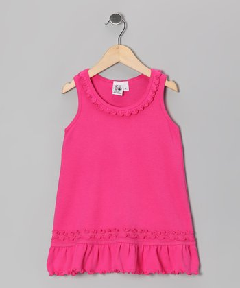 Hot Pink Ruffle Cover-Up - Infant, Toddler & Girls