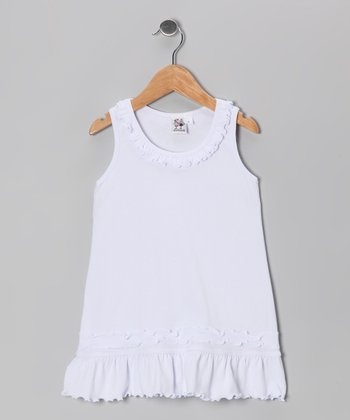 White Ruffle Cover-Up - Infant, Toddler & Girls