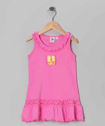 Hot Pink & Yellow Flip-Flop Cover-Up - Infant, Toddler & Girl