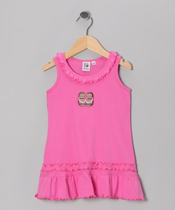 Hot Pink & Brown Flip-Flop Cover-Up - Infant, Toddler & Girls