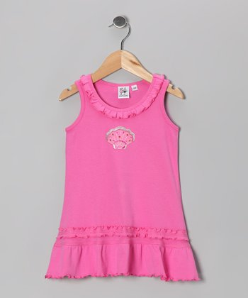 Hot Pink Seashell Ruffle Cover-Up - Infant, Toddler & Girls