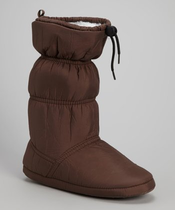Brown Drawstring Boot