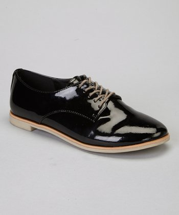 Black Patent Dapper Oxford