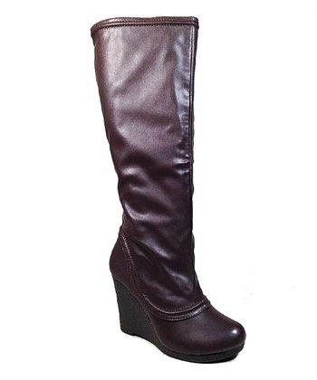 Brown Alda Wedge Boot