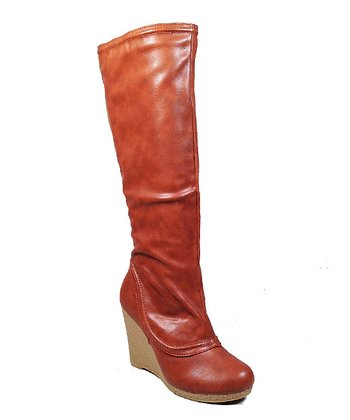 Tan Alda Wedge Boot