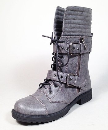 Gray Fight Boot