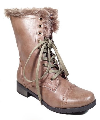 Taupe Okrip Faux Fur Boot