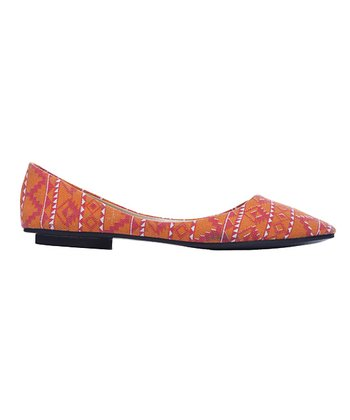 Orange & Red Tribal Flat