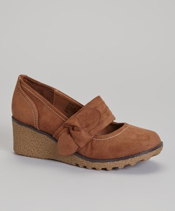 Brown Addie Mary Jane Wedge