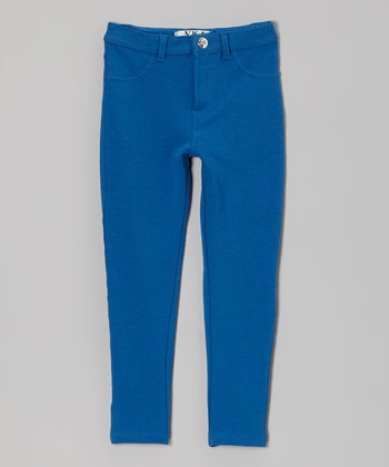 Blue Moleton Jeggings - Toddler & Girls