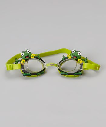 Green Frog Bubble Goggles - Kids